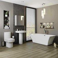 Bathroom Suite Toilet WC Basin Pedestal Freestanding 1700mm Bath