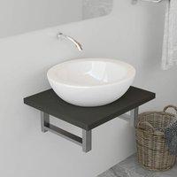 Bathroom Wall Shelf for Basin Grey 40x40x16.3 cm - Grey