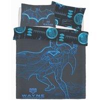 Batman Wayne Industries Panel Duvet Set (Double) (Blue)