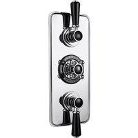 Bayswater Traditional Triple Concealed Shower Valve with Diverter Black/Chrome