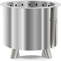 BBQ-Toro stainless steel fire barrel Ø 46 cm | with feet | modern fire basket