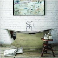 Roll Top 1500mm Nickel Freestanding Boat Bath - Bc Designs