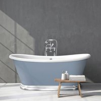 BC Designs Roll Top 1700mm Acrylic Boat Bath With Aluminium Plinth