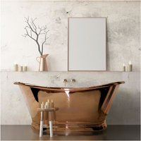 BC Designs Roll Top 1700mm Copper Freestanding Boat Bath