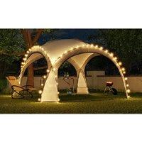 HOPW-LED35G Tonnelle de jardin 3.5x3.5m avec éclairage LED et capteur solaire. Tente de fête, Pavillon de Jardin, Chapiteau - Bc-elec