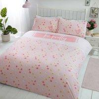 Be Pretty Pink King Size Duvet Cover Set Floral Bedding Quilt Set