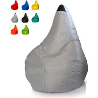 Bean Bag Chair for Outdoors and Indoors Waterproof | Colour: Grey - BEACH AND GARDEN DESIGN
