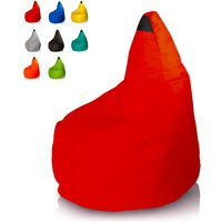 Bean Bag Chair for Outdoors and Indoors Waterproof | Colour: Red - BEACH AND GARDEN DESIGN