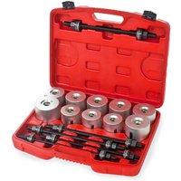 Tectake - Bearing puller / press 27 PC tool set - bearing puller, bearing press, wheel bearing press - grey