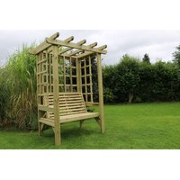 Beatrice Arbour - Sits 2, wooden garden bench with trellis - CHURNET VALLEY
