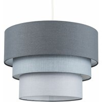 Round 3 Tier Fabric Ceiling Pendant Lamp Light Shade - Light