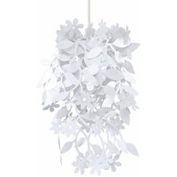 White Floral Chandelier Ceiling Pendant Light Shade - MINISUN
