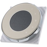 BECA Programmable Round Fan Coil Thermostat 95~240VAC Four Pipe Heating/Cooling Touch Screen 5+2 Weekly Data Memory Air Conditioner with LCD Digital
