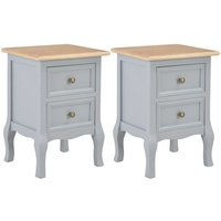 Becerra 2 Drawer Bedside Table by Grey - August Grove
