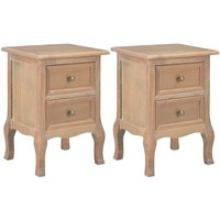 Becerra 2 Drawer Bedside Table by Brown - August Grove