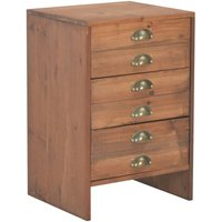 Becker 3 Drawer Bedside Table by August Grove - Brown