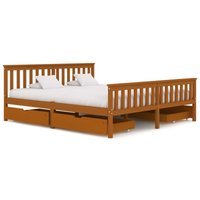 Bed Frame with 4 Drawers Honey Brown Solid Pine Wood 180x200 cm20838-Serial number