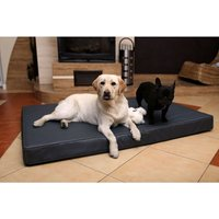 Mercatoxl - Bed orthopedic mattress in eco-leather for dogs cat 120 x 75 cm Antraciet