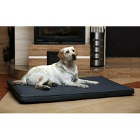 Bed orthopedic mattress in eco-leather for dogs cat GREY 75 x 50 cm - MERCATOXL