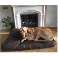 bed pillow for dogs orthopedic dog Dog cushion Nylon BROWN 125x90cm - MERCATOXL