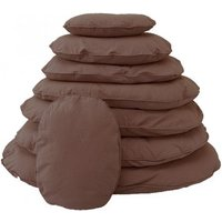 Mercatoxl - bed pillow for dogs orthopedic dog Dog cushion Oval with zipper - LIGHT BROWN 97 x 64 cm