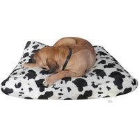 bed pillow for dogs orthopedic dog Grain filling Cow print 125x90cm - MERCATOXL