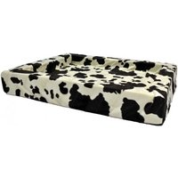 bed pillow for dogs orthopedic dog OutdoorDog Cat Basket Cow print 100x80cm - MERCATOXL