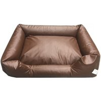 Mercatoxl - bed pillow for dogs orthopedic dog OutdoorDog Cat Basket Dog Sofa Leather Brown 100 x 80 cm