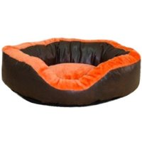 bed pillow for dogs orthopedic dog OutdoorDog Cat Basket Sleeping Basket 80 x 80 cm - Orange - MERCATOXL