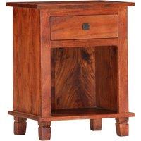 Bedside Cabinet 40x30x50 cm Solid Acacia Wood - Brown - Vidaxl