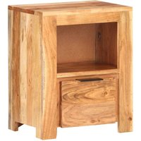 Betterlifegb - Bedside Cabinet 40x30x50 cm Solid Acacia Wood25521-Serial number