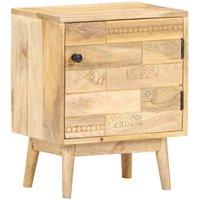 vidaXL Bedside Cabinet 40x30x50 cm Solid Mango Wood - Brown