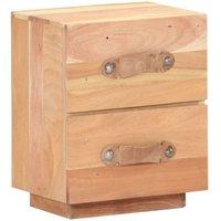 Bedside Cabinet 40x30x50 cm Solid Reclaimed Wood - Brown - Vidaxl