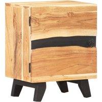 Zqyrlar - Bedside Cabinet 40x30x51 cm Solid Acacia Wood - Brown