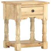 Bedside Cabinet 40x35x50 cm Solid Mango Wood - Brown