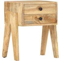 vidaXL Bedside Cabinet 40x35x50 cm Solid Mango Wood - Brown