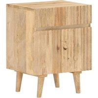 Bedside Cabinet 40x35x54 cm Solid Mango Wood - Brown - Vidaxl
