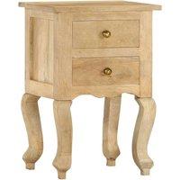 Bedside Cabinet 40x35x60 cm Solid Mango Wood - Brown - Vidaxl