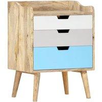 Bedside Cabinet 47x35x63 cm Solid Mango Wood - Brown - Vidaxl