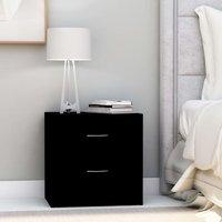 Bedside Cabinet Black 40x30x40 cm Chipboard