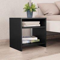 Betterlifegb - Bedside Cabinet Black 40x30x40 cm Chipboard34975-Serial number