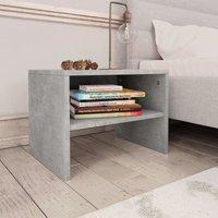 Betterlifegb - Bedside Cabinet Concrete Grey 40x30x30 cm Chipboard35035-Serial number