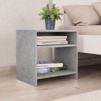 Bedside Cabinet Concrete Grey 40x30x40 cm Chipboard
