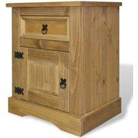 vidaXL Bedside Cabinet Mexican Pine Corona Range 53x39x67 cm - Brown