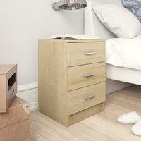 Zqyrlar - Bedside Cabinet Sonoma Oak 38x35x56 cm Chipboard - Brown