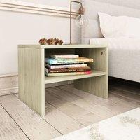 Zqyrlar - Bedside Cabinet Sonoma Oak 40x30x30 cm Chipboard - Brown