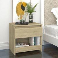 Bedside Cabinet Sonoma Oak 40x30x39 cm Chipboard