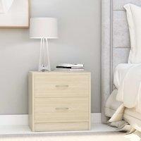 Bedside Cabinet Sonoma Oak 40x30x40 cm Chipboard - Brown
