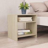 Betterlifegb - Bedside Cabinet Sonoma Oak 40x30x40 cm Chipboard34979-Serial number