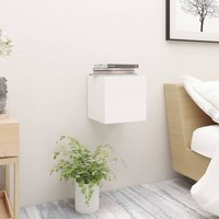 Bedside Cabinet White 30.5x30x30 cm Chipboard
